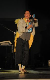 """2010 """"Art of Rock"""" featuring The Parlotones, Zip Zap Circus School, the late Paul du Toit and me and the lead character."""